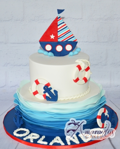 Two tier sailor cake - Amarantos Designer Cakes Melbourne