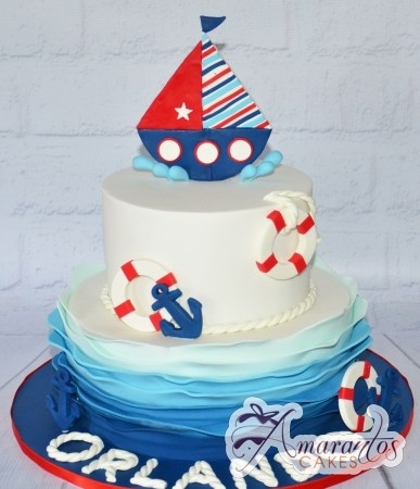 Two tier with Sail Boat – CC08