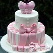 Pink Butterfly cake- Amarantos Designer Cakes Melbourne