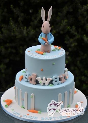 Two Tier Peter Rabbit Cake - Beautiful Amarantos Designer Cakes Melbourne