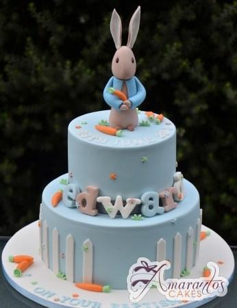 Two Tier Peter Rabbit Cake - Beautiful Amarantos Designer Cakes Melbourne