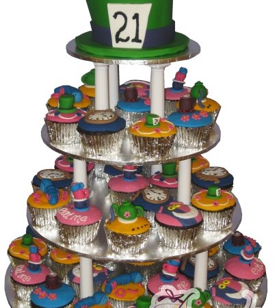 Mad Hatter Cup Cake Tower- CT03
