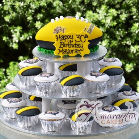 footy cup cake tower cake ct12