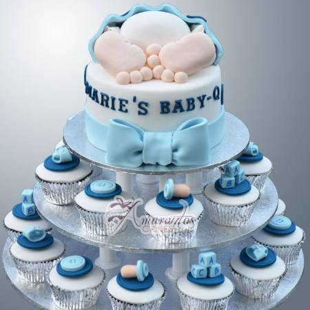 Cup Cake Tower - CT36 - Amarantos Cup Cakes Tower Melbourne - Baby Shower