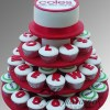 Corporate logo Cup Cake Tower CT64