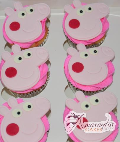 Peppa Pig Cup Cakes - Amarantos Designer Cakes Melbourne