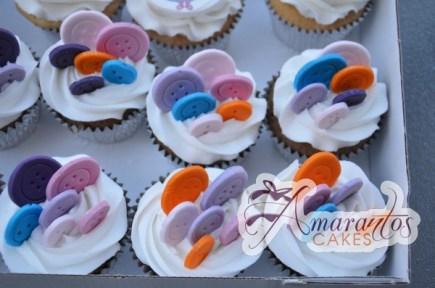 Button Cupcakes - Amarantos Designer Cakes Melbourne