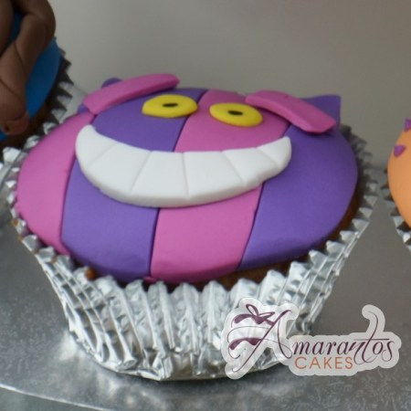 Cheshire Cat Cupcake - Amarantos Designer Cakes Melbourne