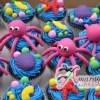 Sea themed cup cakes - Amarantos Designer Cakes Melbourne