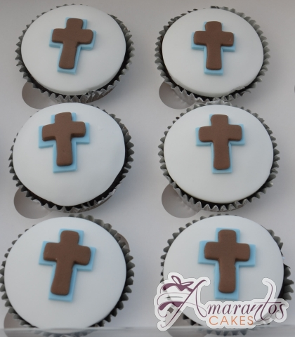 Cross Cup Cakes - CU31 - Communion Cup Cakes Melbourne
