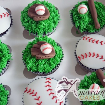 Baseball Cup Cakes – CU32