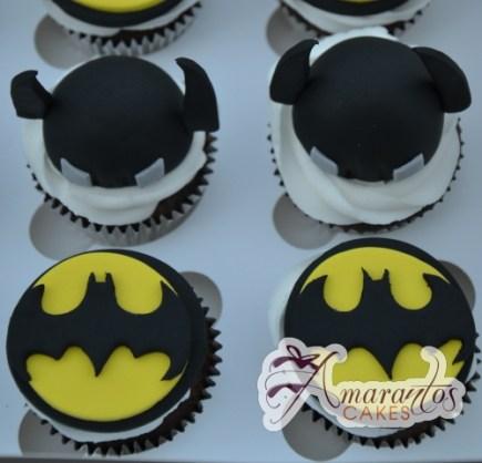 Batman Cup Cakes - Amarantos Designer Cakes Melbourne