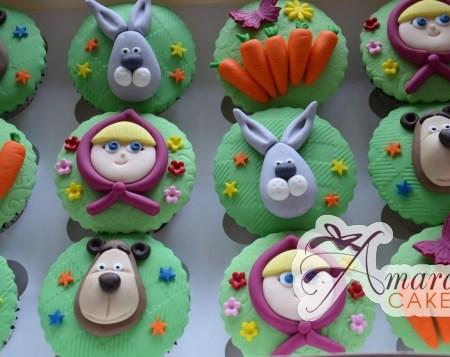 Masha & Bear Cup Cakes- CU42