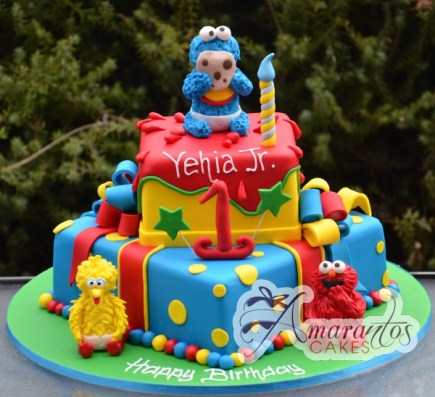 Two tier Sesame Street Cake- NC13 1