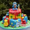 Two tier Sesame Street Cake- NC13
