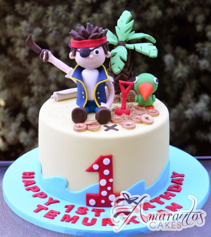 Base with Pirate Jake Cake - Amarantos Custom Made Cakes Melbourne