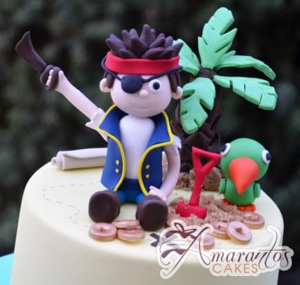Base with Pirate Jake Cake - Amarantos Designer Cakes Melbourne
