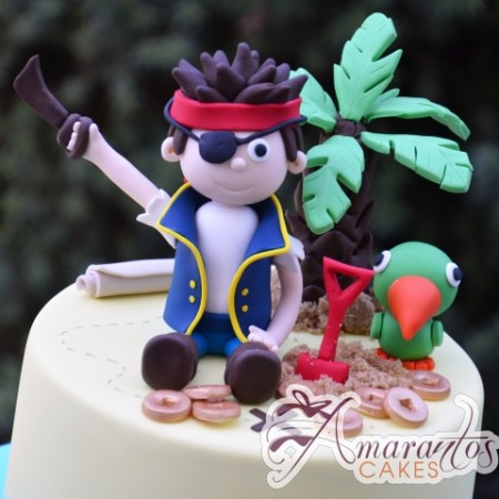 Base with Pirate Jake Cake - Amarantos Designer Cakes Melbourne