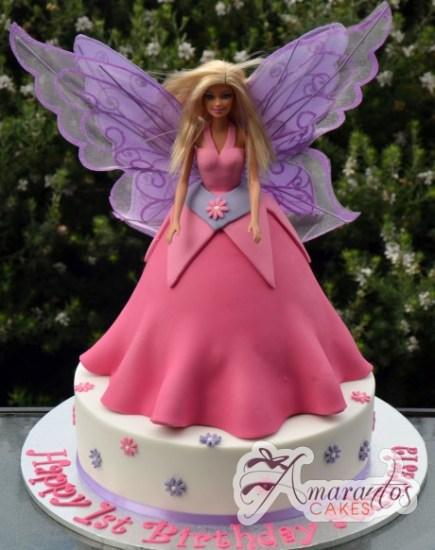 Fairy Barbie on base cake-NC278 1