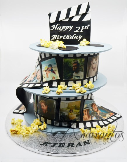 Two tier Film Reel Cake- NC333