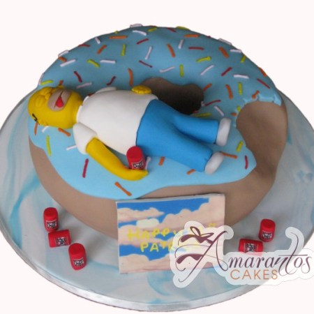Donut Cake with Homer- NC355