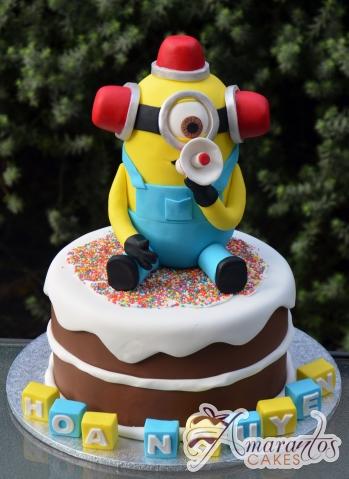 3D Minion on Base cake - NC371 - Birthday Cakes Melbourne