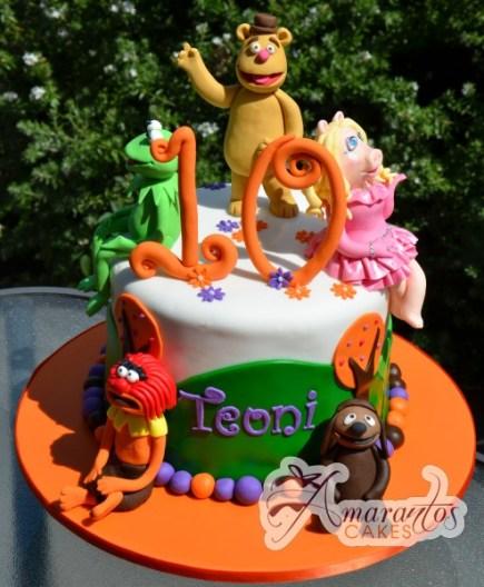 Two tier With Muppets Cake- NC437 1