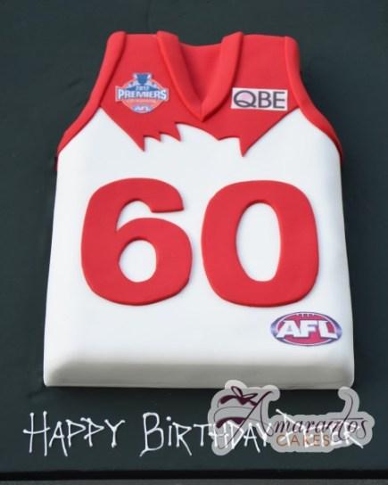 Afl jersey cake - Amarantos Cakes Melbourne