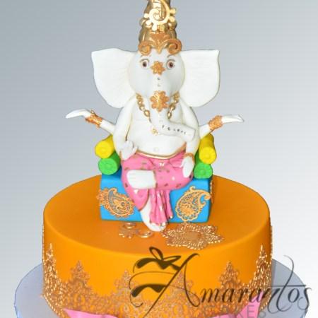 Base cake with Ganesh/Krishna – NC461