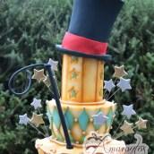 Seven tied circus theme cake - Amarantos Designer Cakes Melbourne
