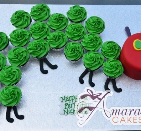 Hungry Caterpillar cup cake cake- NC57