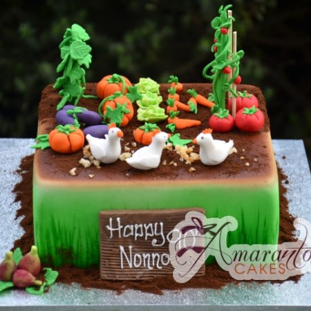 Vegetable Garden Cake - Amarantos Celebration Cakes Melbourne