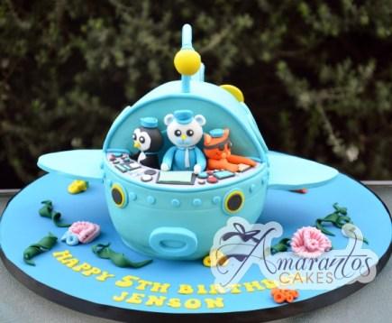 3D Octonauts Ship Cake - Amarantos Cakes Melbourne