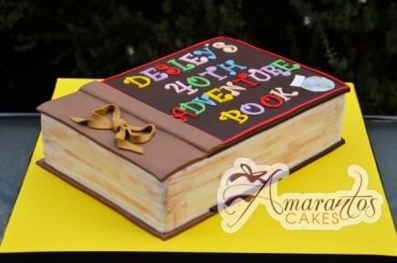Adventure Book Cake - Amarantos Designer Cakes Melbourne