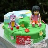 Number cake with Dora & Boots - NC618 - Amarantos 1st Birthday Cakes Melbourne
