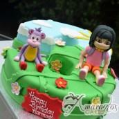 Number Cake With Dora and Boots - Amarantos Designer Cakes Melbourne