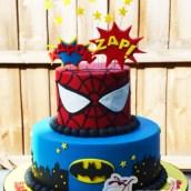 Two Tier Super Hero Cake - Amarantos Designer Cakes Melbourne