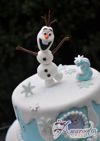 Base Cake with Olaf - Amarantos Custom Made Cakes Melbourne