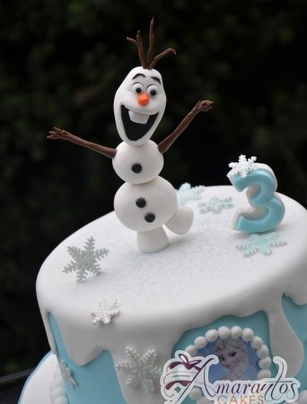 Base Cake with Olaf - Amarantos Custom Made Cakes Melbourne