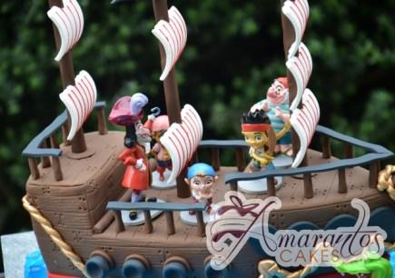 3D Pirate Ship with Jake the Pirate Cake - Amarantos Designer Cakes Melbourne