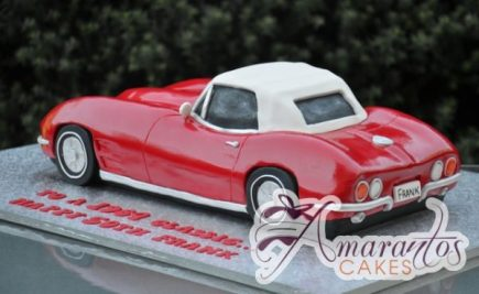 3D Corvette Cake - Amarantos Custom Made Cakes Melbourne