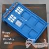 2D Tardis Dr. Who Cake - Amarantos Designer Cakes Melbourne