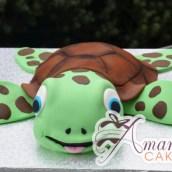 3D Sea Turtle Cake - Amarantos Cakes Melbourne