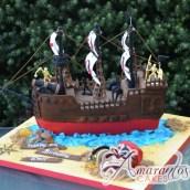 3D Pirate Ship Cake - Amarantos Designer Cakes Melbourne
