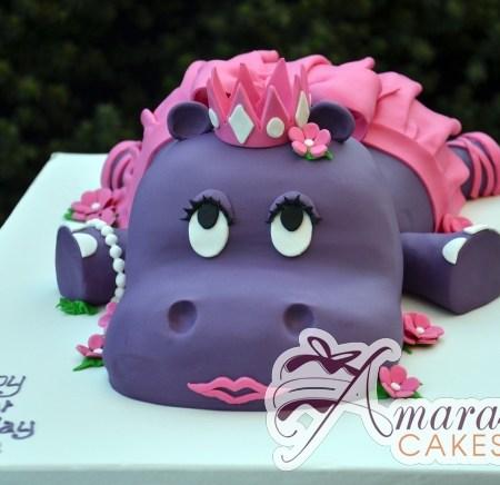 3D Hippo Cake - Amarantos Designer Cakes Melbourne