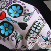 Day of the Dead Mexican Skull - Amarantos Designer Cakes Melbourne