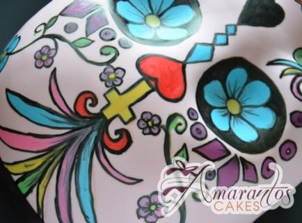 2D Mexican Skull Cake - Amarantos Designer Cakes Melbourne