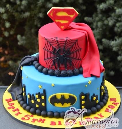 Two tier super hero cake – NC695