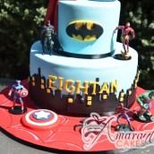 Two tier super hero cake - NC705 - Amarantos Custom Made Cakes Melbourne