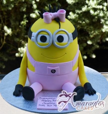 3D Minion Girl Cake - Amarantos Birthday Cake Melbourne